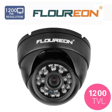 FLOUREON 1200TVL NTSC Vandalproof CCTV DVR Security CMOS Dome Camera Night Vision surveillance Weatherproof For outdoor / indoor (Ntsc Cctv Camera)