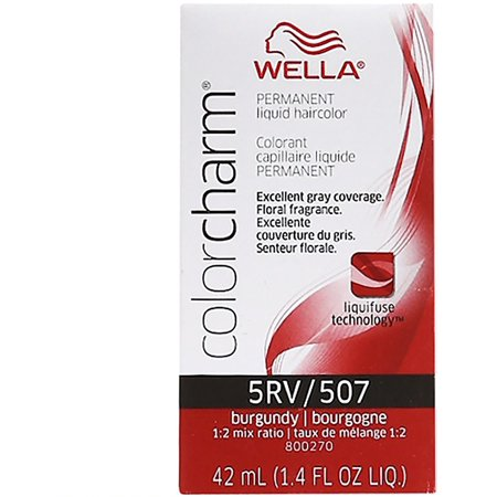 Wella Color Charm Liquid Haircolor 5rv/507 Burgundy, 1.4 Oz
