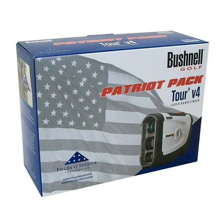 NEW Bushnell Tour V4 Patriot Pack Laser Rangefinder w Blue SKINZ, Case & Battery