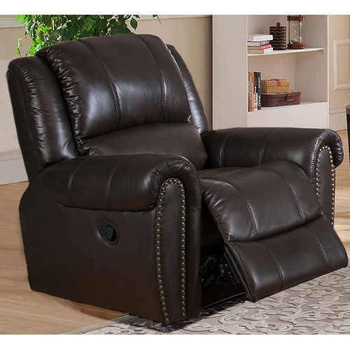 Amax Charlotte Leather Manual Recliner