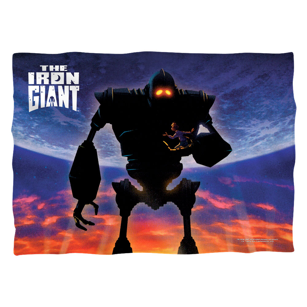 Iron Giant Poster (Front Back Print) Poly 20X28 Pillow Case White One Size