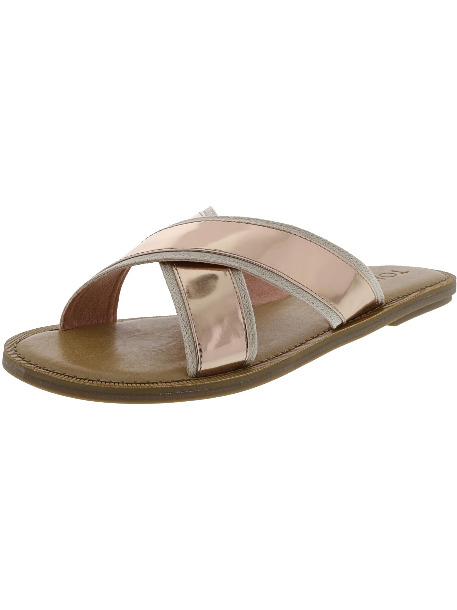 Toms Women's Viv Specchio Rose Gold Sandal - 8M