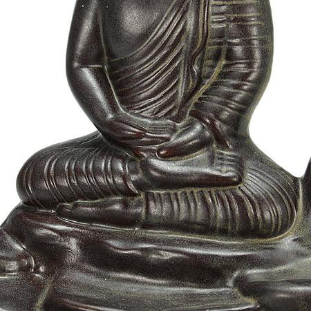 Home Buddha Incense Burner Holder Buddhist Statue Smoke Backflow Cone Censer Gifts - image 4 de 7