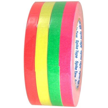 Pro Gaff Fluorescent Short Stack Gaffers Spike Tape 1/2 inch x 20 yard