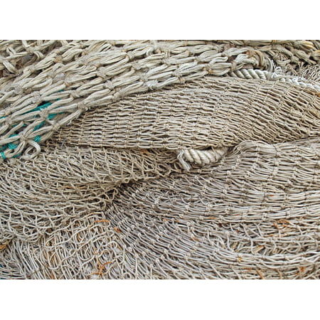LAMINATED POSTER Coast Fish Fishing Net Network Fishing Port Poster Print 24 x 36