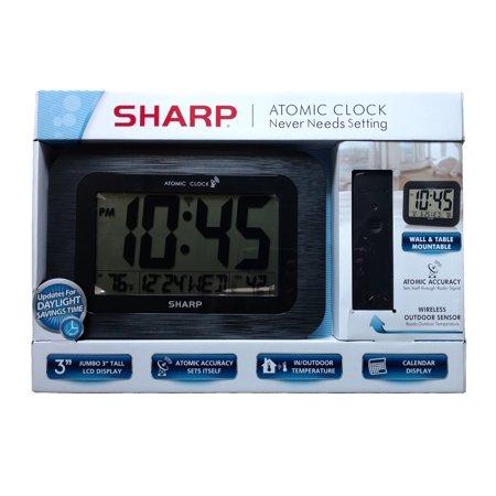 Atomic Electronic (Sharp Digital Atomic Wall Clock - Black )