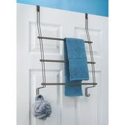 InterDesign Classico Over the Shower Door Towel Rack, Bronze
