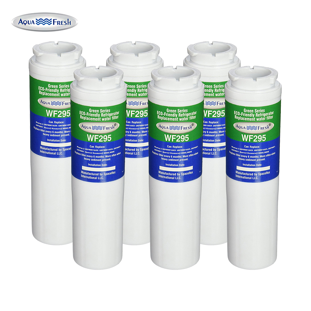Replacement Water Filter For KitchenAid UKF8001 Refrigerator Water Filter by Aqua Fresh (6 Pack)