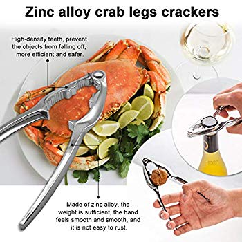KKPLZZ 12PCS Seafood Tools Set Seafood Crackers Seafood Forks Crab Sheller Forks Set Nut Cracker Opener Shellfish Lobster Leg Sheller Kitchen Accessories
