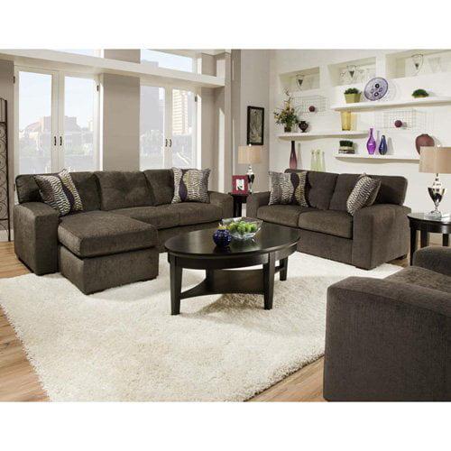 Chelsea Home Rockland Sofa Set - Hematite Gray