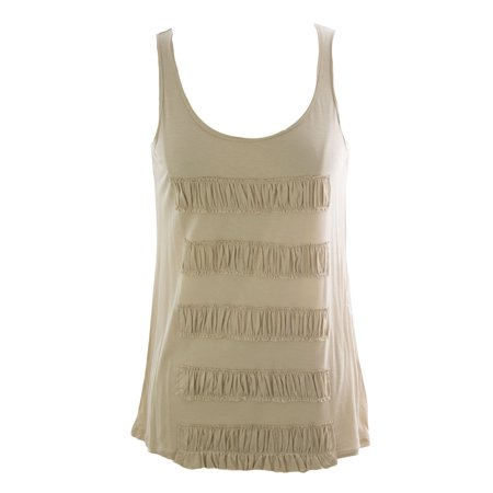 August Silk Women's Ash Blonde Ruffle Detail Tank Top