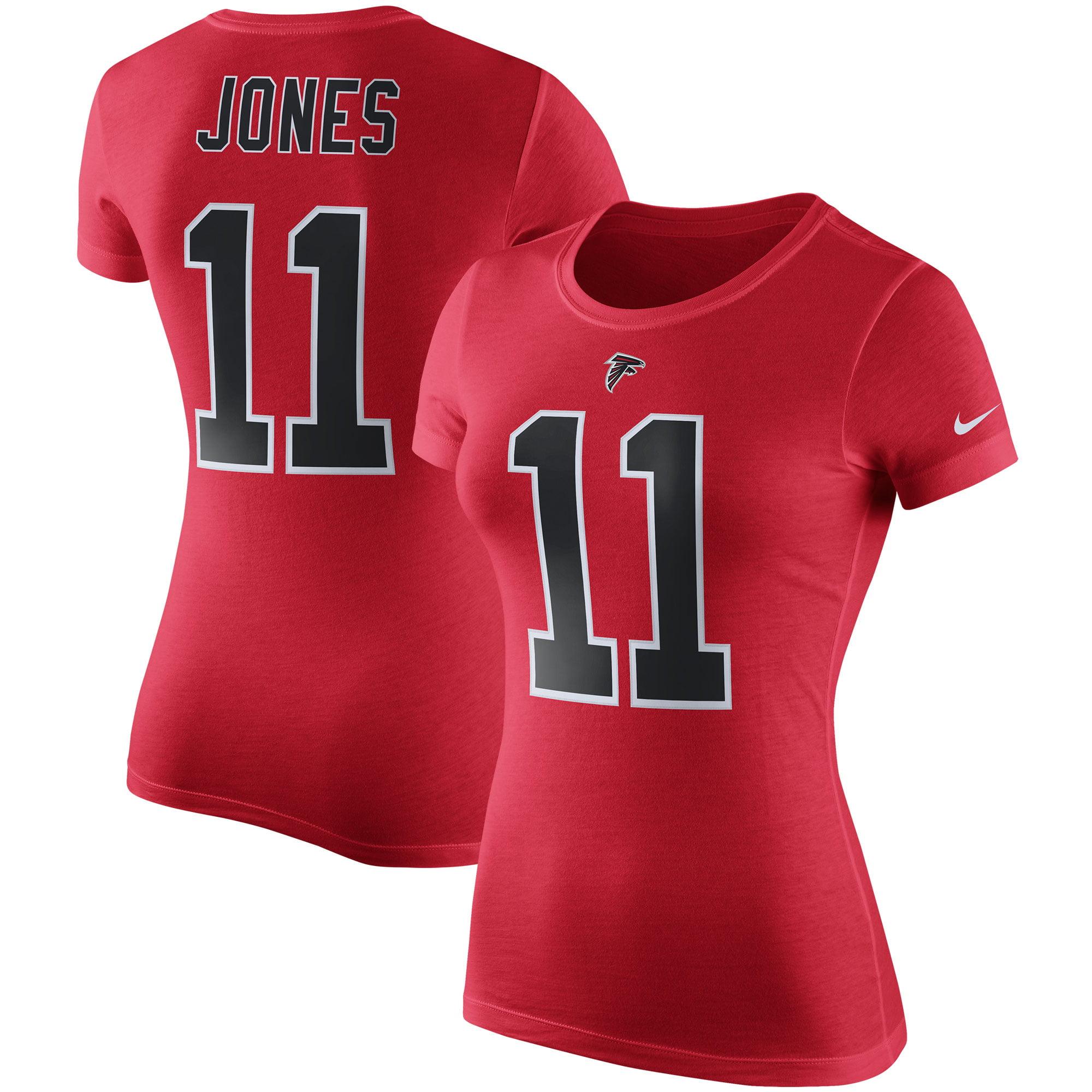Julio Jones Atlanta Falcons Nike Women's Player Pride Color Rush Name & Number T-Shirt - Red