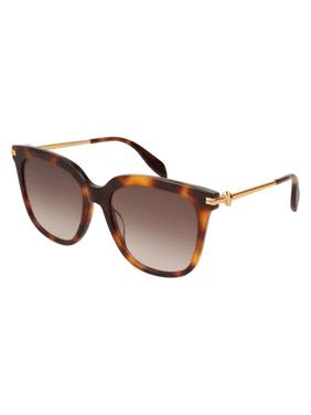 Sunglasses Alexander McQueen AM 0107 S- 002 AVANA / BROWN GOLD