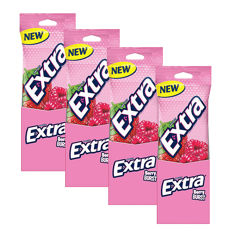 (3 Pack) Extra, Sugar Free Berry Burst Chewing Gum, 3 Ct