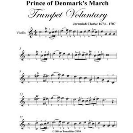 - Prince of Denmark's March Trumpet Voluntary Easy Violin Sheet Music - eBook