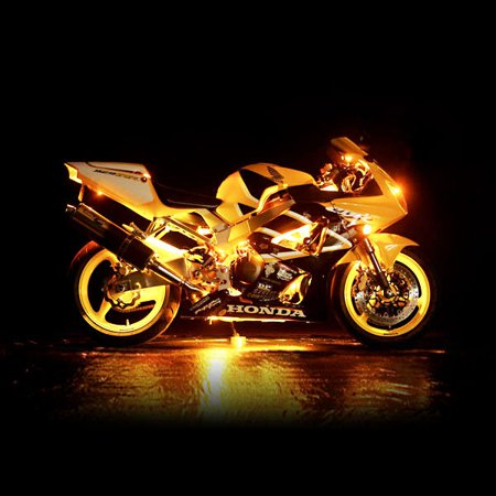 Motorcycle 7 Color LED Accent Light Kit Remote For Yamaha YFM 350 Warrior Pro Hauler 700 1000 - image 2 de 5