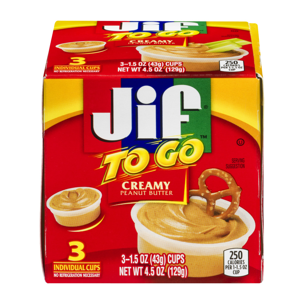 Jif To Go Natural Creamy Peanut Butter Spread - 3 CT