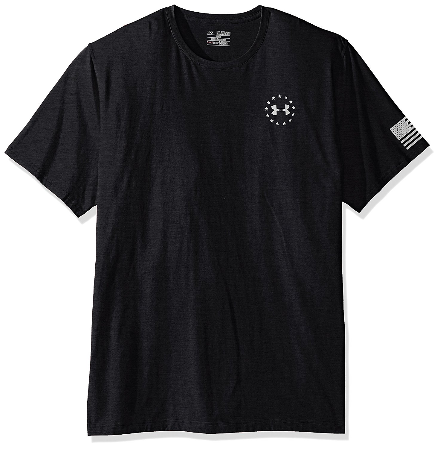 Under Armour Freedom Flag Mens Tactical Graphic T-Shirt Black White X-large by Under Armour