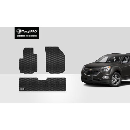 ToughPRO - CHEVROLET Equinox 1st & 2nd Row Mats - All Weather - Heavy Duty - Black Rubber - 2019