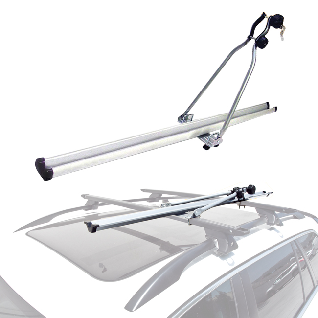 Roof Mount Bike Bicycle Carrier Rack Rooftop Upright by Apontus