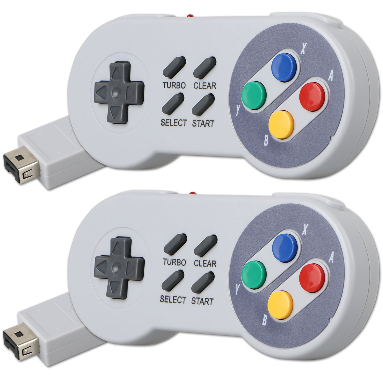 2-pack 2.4GHz Wireless Gamepad Controller for Super Nintendo SNES Classic Mini Edition Console
