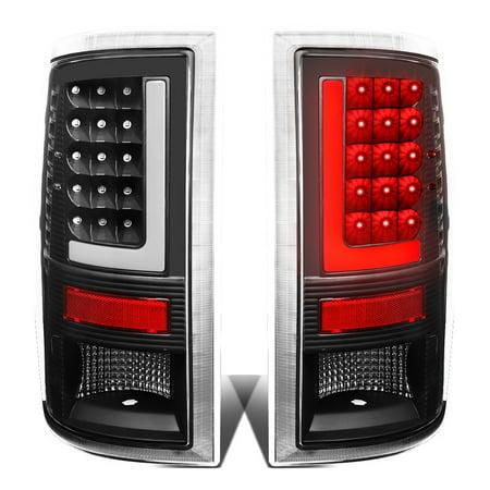 Brake Bar - For 09-17 Dodge Ram 1500/2500/3500 Pair of 3D LED Bar Tail Brake Lights (Black Housing Clear Lens) 16 15 14 13 12 11 10