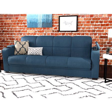 Mainstays Tyler Sleeper Sofa Bed with Storage, Multiple Colors