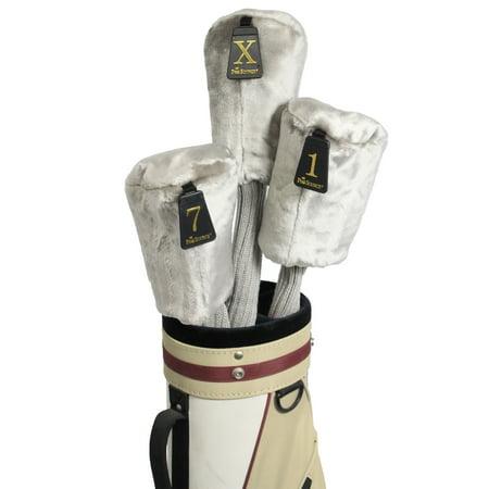 Pro Source Long Neck 3-PC Set Fur-Knit Golf Club Headcovers - Grey (Top-sonnenbrillen Für Golf)