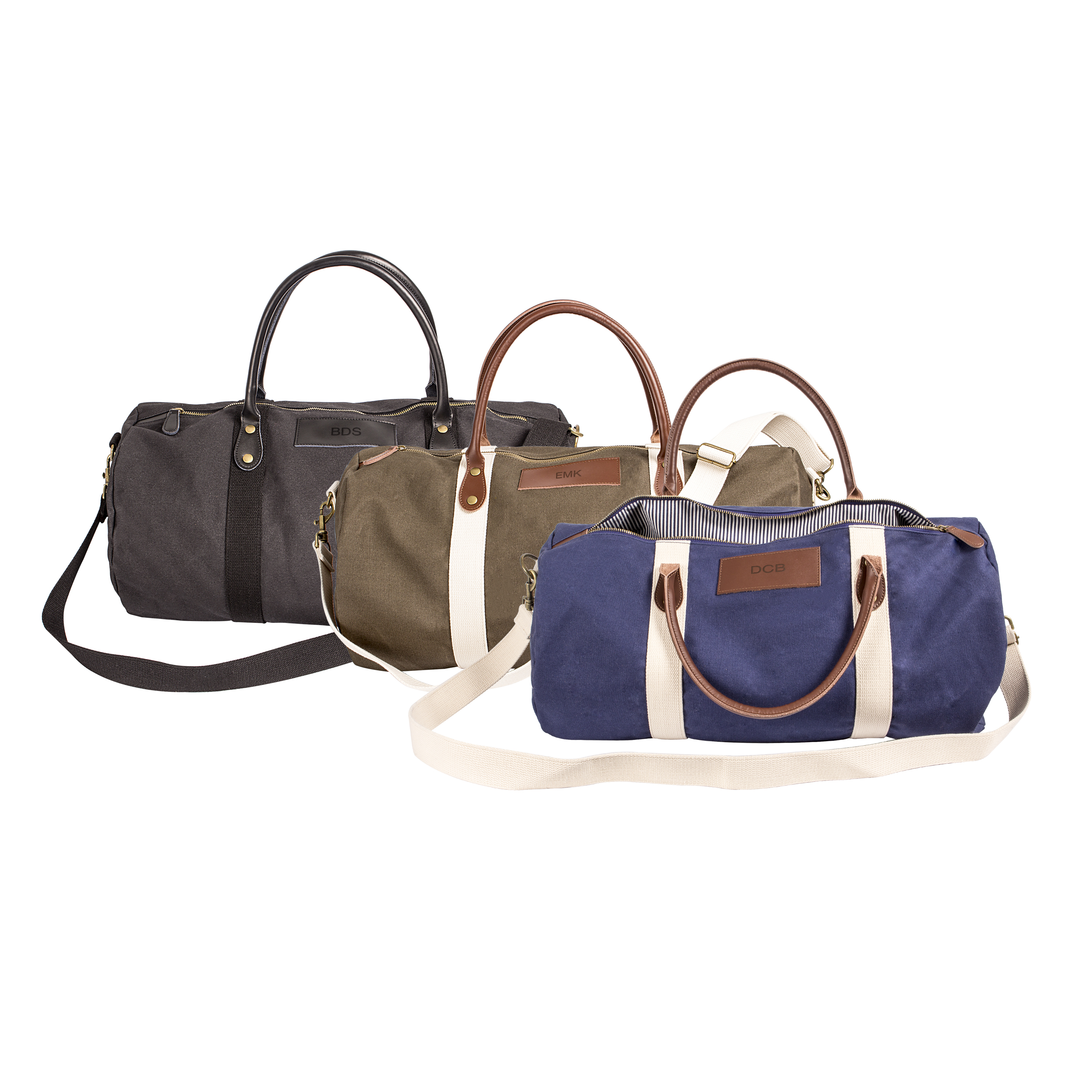 Personalized Canvas & Leather Duffel Bag