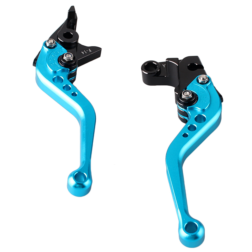 GZYF Pair CNC Motorcycle Short Brake Levers for YAMAHA 02 -03 R1 / 99 - 04 R6 / 06 - 09 R6S / 01 - 05 FZ1 Blue