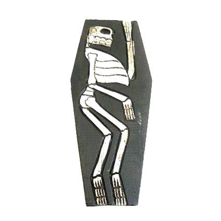 Skull Coffin Box Skull Trinket Treasure Box -Cross bones Skeleton Halloween- OMA BRAND - Halloween Trinkets