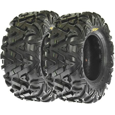 SunF All Trail A/T ATV UTV Tires 25x10-12 25x10x12 6 PR A033 (Set pair of