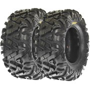 SunF All Trail A/T ATV UTV Tires 25x10-12 25x10x12 6 PR A033 (Set pair of 2)