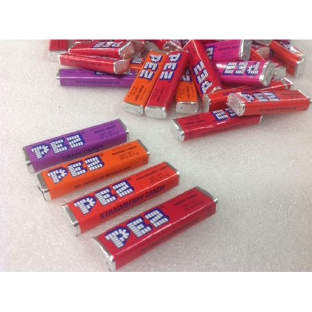Pez Candy Refills Pez Rolls Assorted Flavors 2 pounds bulk pez refill (Pez Strawberry Refill)