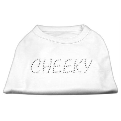 Cheeky Rhinestone Shirt White M (12)