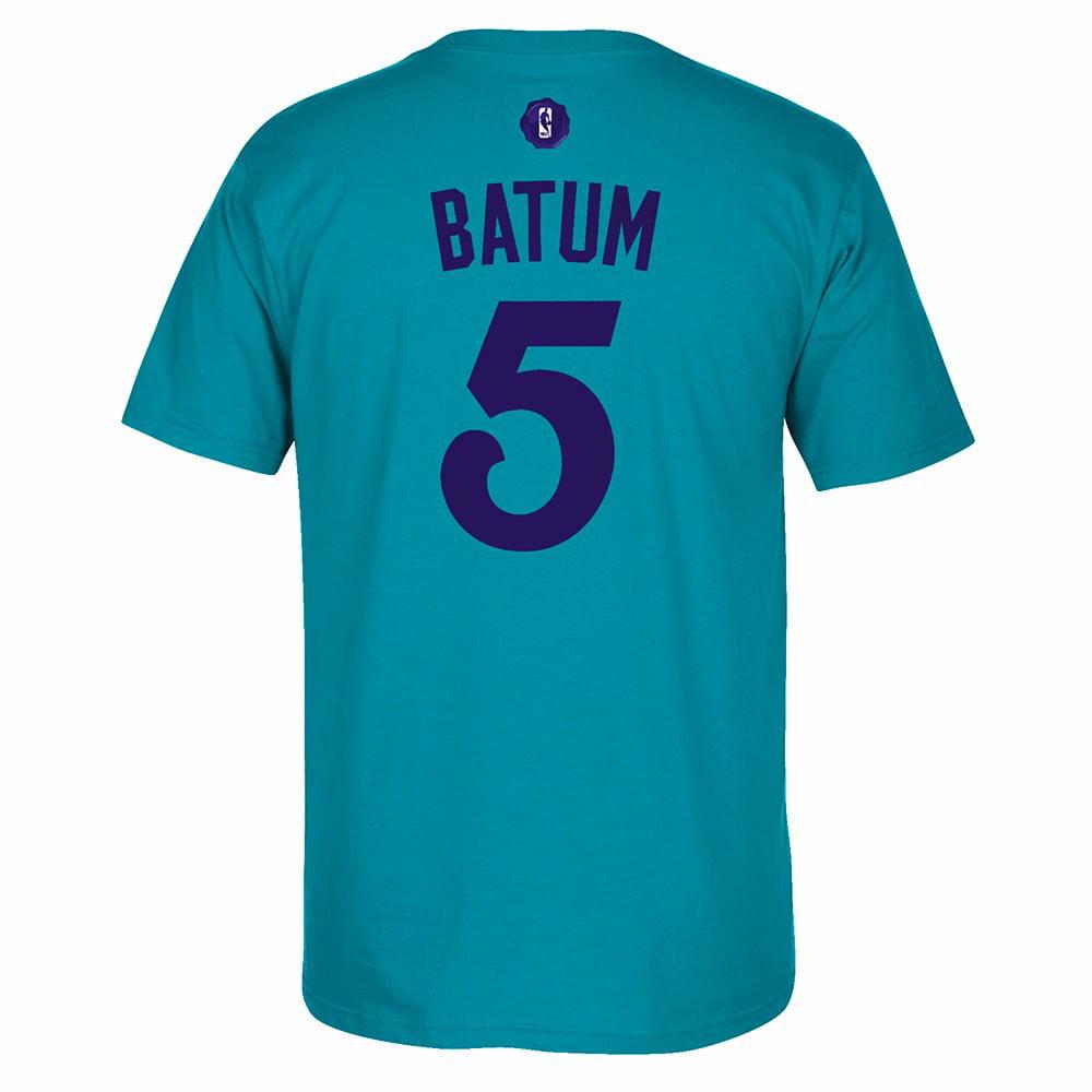 Nicolas Batum Charlotte Hornets NBA Adidas Teal Name & Number Player Jersey Team Color T-Shirt For Men