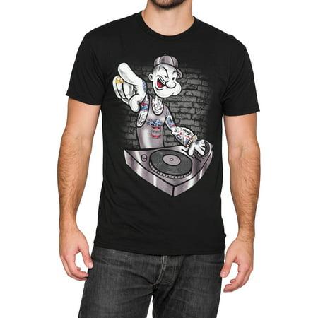 Popeye T-shirt Tee - Popeye Tattoo Mens T-Shirt - Black
