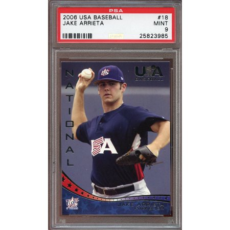 2006 usa baseball #18 JAKE ARRIETA chicago cubs rookie card PSA - Psa / Dna Autographed Baseball