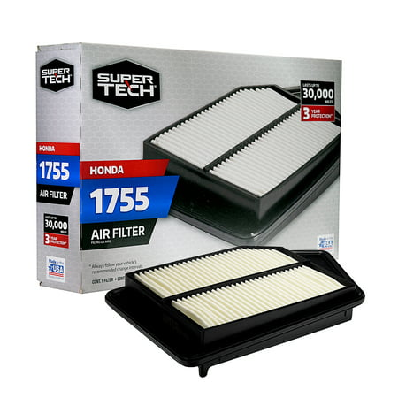 SuperTech 1755 Engine Air Filter, Replacement Filter for Honda ()