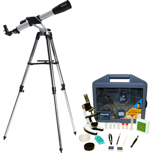 Meade Instruments NG60 Telescope with 900x Microscope, 28-Piece Set