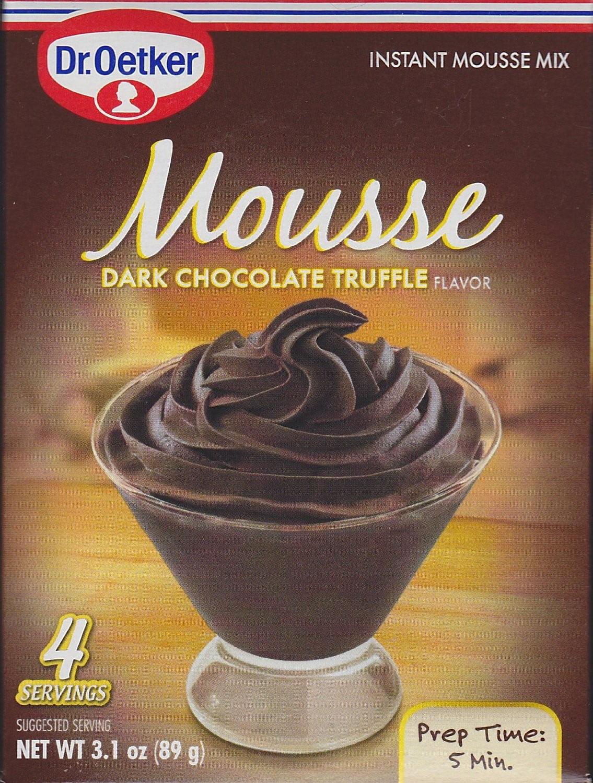 Dr. Oetker Mousse Mix, Dark Chocolate Truffle, 3.1 Oz by Dr. Oetker