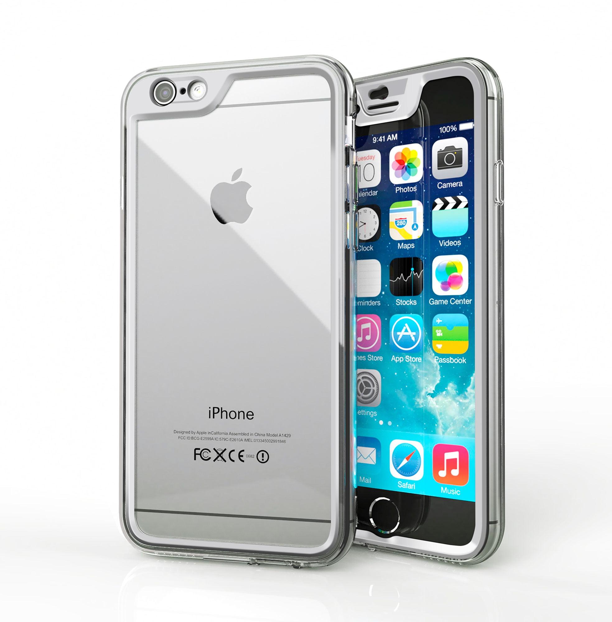 iPhone 6s Case, Gelledge Premium Hybrid PC / TPU Protective Full Body Case Cover (Alpine White) for Apple iPhone 6 / 6s (2015)
