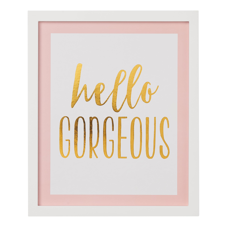 "Hello Gorgeous Decorative Wall Art Sign, 10"" x 12"""