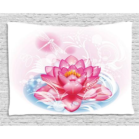 Flower Decor Tapestry Mandala Decor Indian Yoga Theme Lotus Flower