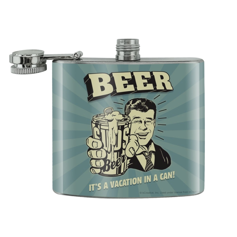 Good Boy Club Dog Funny Humor Stainless Steel 5oz Hip Drink Kidney Flask