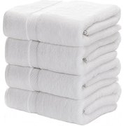 Luxury White Bath Towels for Bathroom-Hotel-Spa-Kitchen-Set - Circlet Egyptian Cotton - Highly Absorbent Hotel Quality Towels -