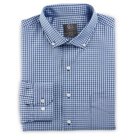 Small Dress Shirts (Men's Big & Tall Gold Series Tonal Small Check Dress)