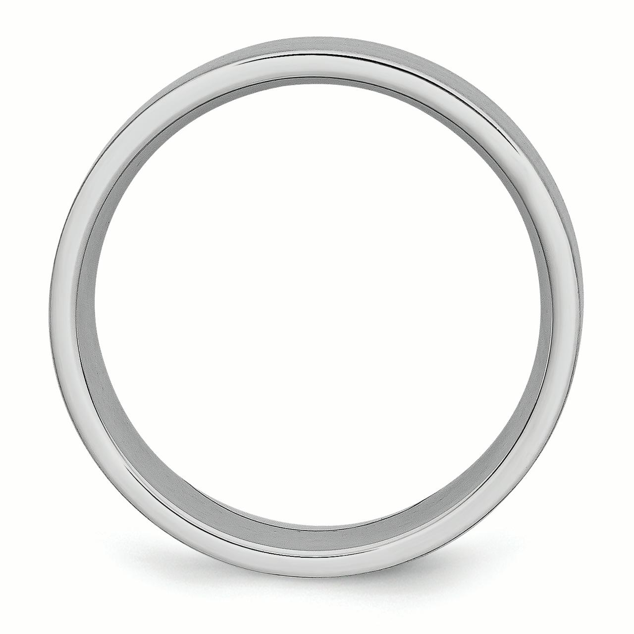 Cobalt Flat 8mm Wedding Ring Band Size 7.00 Classic Fashion Jewelry Gifts For Women For Her - image 2 of 6