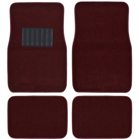 Bdk Carpeted Floor Mats 4 Piece Mat With Vinyl Heel Pad