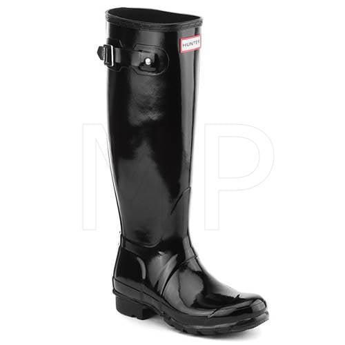 Hunter Original Tall Women's Gloss Rain Boot (Black, Size 10)